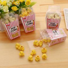 26e5fd19ac8262 Kawaii Creative Popcorn Eraser Cute Children Stationery School Supplies  Rubber Eraser Correction Supplies Kids Girl Toy