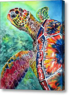 Myrtle The Turtle Acrylic Print By Maria Barry