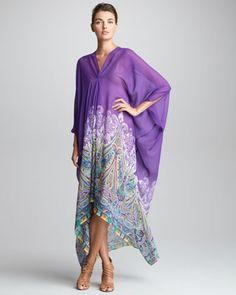 V-Neck Caftan, Purple by Etro at Neiman Marcus.