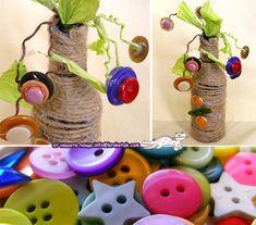BUTTON Garden kids craft