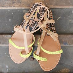 Neon Strappy Sandals | UOIonline.com: Women's Clothing Boutique