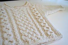 Ravelry: twogirls Baby Cs Irish sweater