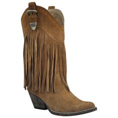 suede fringe cowboy boot ♥ ♥
