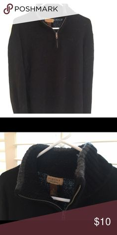 men's navy pull over sweater Used. Free of holes, stains, rips or tears. Sonoma Sweaters