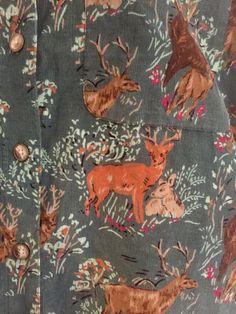 Eddie Bauer Sz M Vintage Western Corduroy Shirt Buck Deer RARE  | eBay