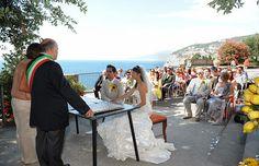 Civil wedding at Villa Fondi, Sorrento