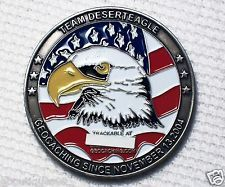 Team Desert Eagle - Antique Silver Finish - New Unactivated Geocoin