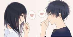 Cute Couple Art, Anime Love Couple, Anime Couples Drawings, Anime Couples Manga, Couple Drawings, Anime Neko, Anime Kawaii, Cute Couple Wallpaper, Cute Anime Coupes