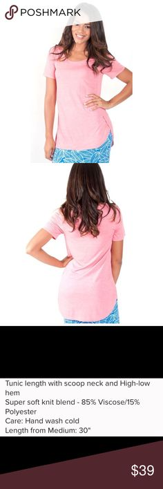 🎀 COMING SOON 🎀 Coral Tunic Tee The wear with everything Tee. SUPER soft knit blend, tunic length scoop neck with a high low hem for coverage and versatility. Wear with leggings, tucked in or tied on the side. Tops Tees - Short Sleeve
