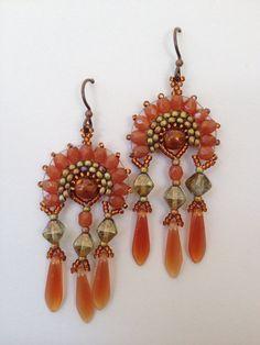 Jeka Lambert, seed bead earrings