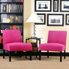 - Fuschia Accent Chair, Shout the Corner of the Room! , Fuschia accent chair is totally great to complete your chartreuse or even the earthy green living room. See our gallery!, http://www.designbabylon-interiors.com/fuschia-accent-chair-shout-corner-room/