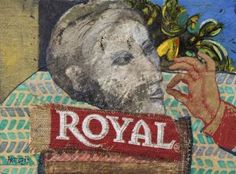 "Saatchi Art Artist Minas Halaj; Collage, "" Royal "" #art"