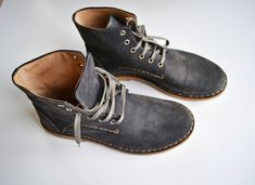 Handmade Curried Leather Women Desert Boots - MADE TO ORDER -