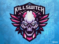 Killswitch Skull Mecha Mascot Logo by HSSN DSGN on Dribbble Brand Identity Design, Logo Design, Graphic Design, Logo Youtube, Esports Logo, Blue Dragon, Unique Logo, Logo Maker, Art Logo