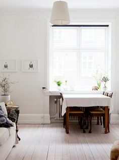 simple dining space