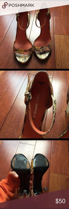 "Via Spiga Strappy Sandals Super cute perfect for summer. Heel's approximately 4"" high. Via Spiga Shoes Heels"