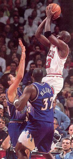Michael Jordan vs Karl Malone and John Stockton