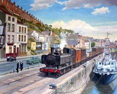 cz Fine Art Prints of Railway Scenes & Train Portraits - Hotwells Road - Bristol Railway Posters, Travel Posters, Bristol, Uk Rail, Holland, Old Steam Train, Nostalgic Art, Steam Railway, Train Art