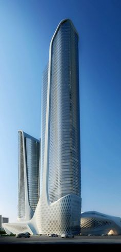 Youth Olympics Center Tower Nanjing, China by Zaha Hadid Architects :: 68 floors, height 314m