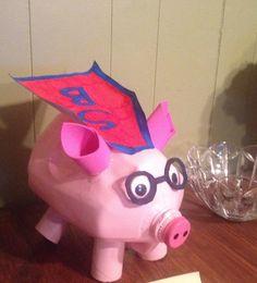 """""""Super bacon"""" 4H milk jug piggy bank"""