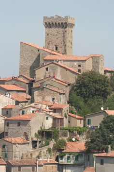 View on the historic centre of Arcidosso, Tuscany