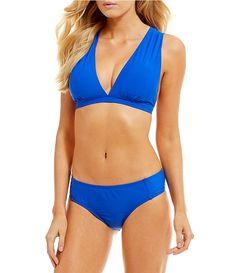 26e364e32e1e4 Antonio Melani Run With It Solid Halter Bralette Top & Tab Side Bottom  Bikini Swimsuit Halter