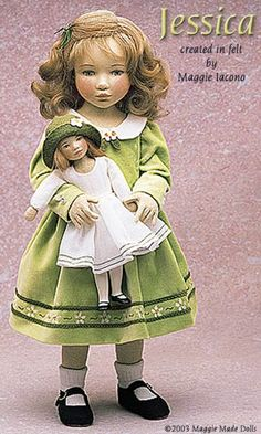 Jessica 16.5 Inch Tall Felt Doll Edition Size: 70 Created in 2000