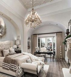 The Ultimate Luxury Master Bedroom Ideas Trick Your bedroom plays a valuable part in receiving the sleep your body requires, but it's more than only a space for sleeping. Master bedroom is thought … Dream Master Bedroom, Master Bedroom Design, Master Suite, Master Bedrooms, Bedroom Designs, Master Master, Bedroom Layouts, Bedroom Sets, Home Decor Bedroom
