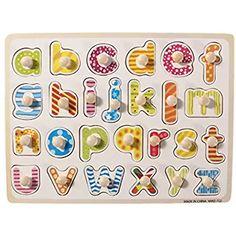 gioco didattico bambini Puzzle incastro lettere e numeri in legno giocattolo
