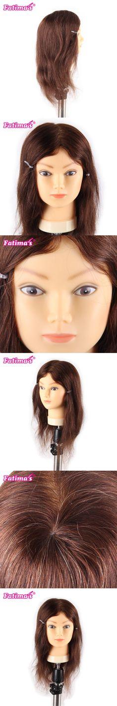 Fatimas Hand Made Mannequin Head 100% Human Hair Hairdresser Training Head Manikin Cosmetology Doll Head