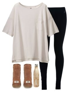 """Follower of the week (Jan 3) is....."" by classicallyclaire ❤ liked on Polyvore featuring NIKE, Uniqlo, UGG Australia, S'well and followeroftheweekCV"