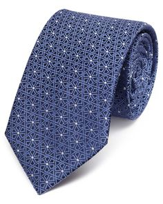 Buy our Blue silk classic geometric lattice tie exclusively from Charles Tyrwhitt of Jermyn Street, London. Tie A Necktie, Cute Love Images, Charles Tyrwhitt, Tie Knots, Mens Fashion, Neckties, Silk, Men's Clothing, My Style