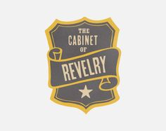 hand drawn logo for the band the cabinet of revelry by annamarie buckley of scout's honor co.