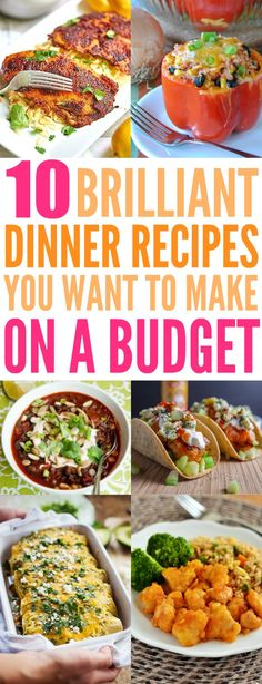 10 Healthy Dinners You Can Make on a Tight Budget: The New Year is here and my biggest worry is having to stay on budget and I realized that I spend a lot on food. But not very good food I might add. Now I love cooking so this post is really exciting for me because I can cook healthy food on a budget. How cool is that! It doesn't take much money to make delicious food over and over again that might help me lose weight! I am so excited now for making easy healthy dinners on a...