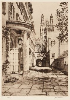Samuel Chamberlain (American, Group of 3 - etching and drypoint. Ink Illustrations, Illustration Art, Structural Drawing, Building Art, American Indian Art, Architecture Drawings, Art Studies, Gravure, Watercolor Art