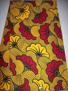 Ankara Floral print African fabric per yard yellow background/ African print fabrics/ African clothing/ African head wraps