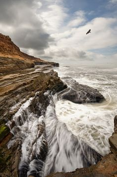 Point Loma, San Diego, California.  Cabrillo's Inferno by Lee Sie