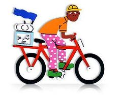 Bicycle - Tin Art Fridge Magnet by GoodiezOnline on Etsy