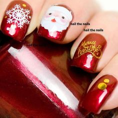 dcd338130f The top 31 Christmas nails images   Christmas manicure, Christmas ...