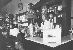 Drug Store Soda Fountain. 1905.