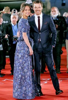 "Michael Fassbender and Alicia Vikander at the London Premiere of ""The Light Between Oceans""(19-10-2016)"