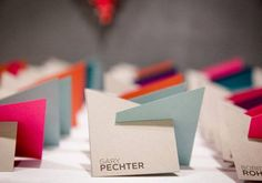 geometric cards- Table Name Sign? ( you can tell I am a bit obsessed with table name presentation ;)