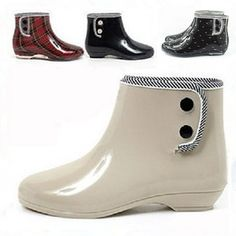 Fashion woman short rain boots transparent women's rainboots water shoes rubber shoes multicolor free shipping $17.99