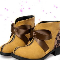 Pinned onto Womens Shoes Board in Shoes Category Cute Womens Shoes, Cute Shoes, Flat Booties, Leopard Shorts, Funky Shoes, Short Boots, Winter Boots, Baby Shoes, Booty