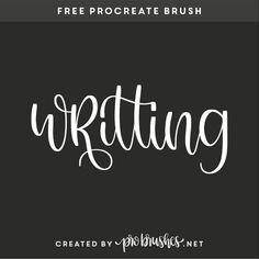 Free procreate brushes and lettering pratice sheets. Create beautiful handlettering, sketching and illustrations with our free brushes. Hand Lettering Alphabet, Brush Lettering, Learning To Write, Free Brushes, How To Find Out, Digital Journal, Digital Art, Sketching, Writing