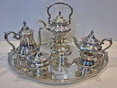 Seven piece Gorham Sterling Silver Tea Gorham Sterling, Sterling Silver, Silver Tea Set, Tea Service, Tea Sets, Antique Silver, Fashion Art, Modern Furniture, Dishes
