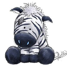 Chip the Zebra - Tatty Teddy Friends Tatty Teddy, Blue Nose Friends, Cute Drawings, Animal Drawings, Cute Images, Cute Pictures, Baby Animals, Cute Animals, Art Mignon