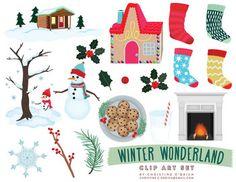 Winter Wonderland Clip Art Set