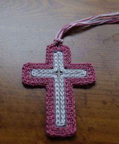 Plastic Canvas Cross Bookmark Crochet Pattern