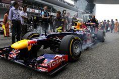 Mark Webber, Red Bull Racing. Credit: Pirelli